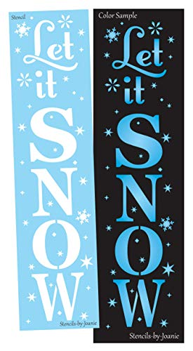 Joanie 6'x24' Stencil Let It Snow Stars Winter Flakes Christmas Farmhouse Holiday Cabin DIY Art Sign