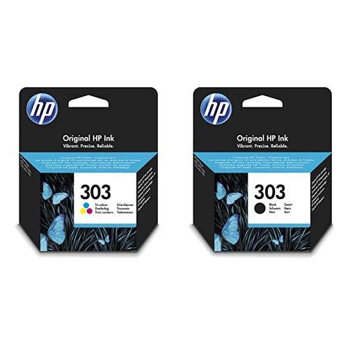 HP 303 T6N01AE e T6N02AE Cartucce Originali per Stampanti a Getto di Inchiostro HP Tango e Tango X e HP Envy 6220, 6230, 6232, 6234, 7130, 7134 e 7830, Nero e Tricromia