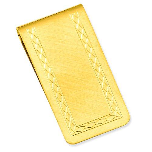 Diamond2Deal Gold Kelly Waters mit Gravurfläche Florentiner Geldklammer