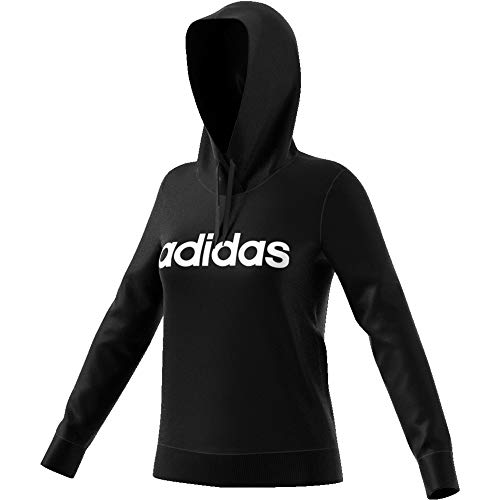 adidas W E Lin OHHD FL Sweatshirt, Mujer, Black/White, M