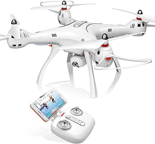 Syma GPS FPV RC Drone with Camera Live Video and GPS Return Home Quadcopter with Adjustable Wide-Angle 720P HD WiFi Camera Altitude Hold