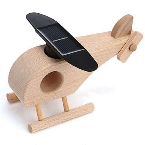 Neues Holzspielzeug Kreatives Holz Solar Power Flugzeug Hubschrauber Modell Kinder frühes pädagogisches Spielzeug
