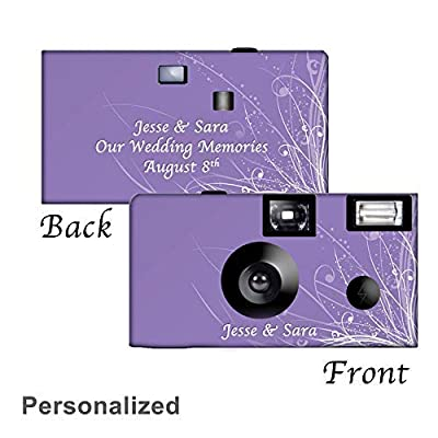5 Graceful Waves Custom Disposable Cameras, Can be Personalized, Wedding, Party by CustomCameraCollection