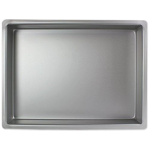 PME Molde para Pastel Rectangular de Aluminio Profundidad de 12 x 18 x 2-Pulgadas