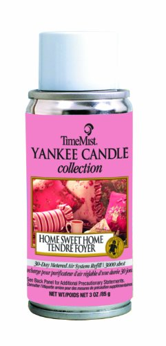 TimeMist 815300TMCA Yankee Candle Collection 3000 Shot Metered Home Sweet Home Air Freshener Refill (Case of 12)
