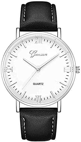 JZDH Mano Reloj Reloj de Pulsera Reloj Moda Dial Grande Menorizado Hombres Reloj Relojes Deporte Cuero Relojes Clásico Reloj de Pulsera Reloj Masculino Relojes Decorativos Casuales