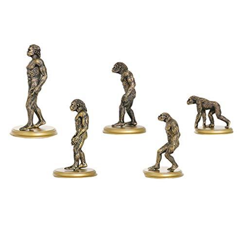 Toyvian 5 Peças Estatuetas Humanas Decoração Tribal Primitiva Brinquedo Evolução Humana Homem Macaco Ferramenta de Ensino Mini Estátua Escultura Brinquedo Educacional Inicial(estilo aleatório)