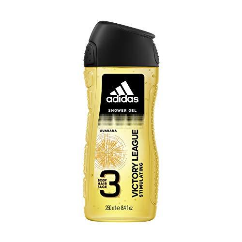 Adidas, Victory League Gel Doccia Bagnoschiuma 3 in 1 per Corpo, Capelli e Viso, 250 ml