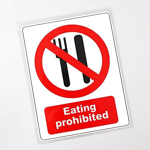 WZJH 12. 5CMX16.3CM Calcomanía Que Come Prohibido no Hay señal de alimento CLORURO DE POLIVINILO Sticker de Carro