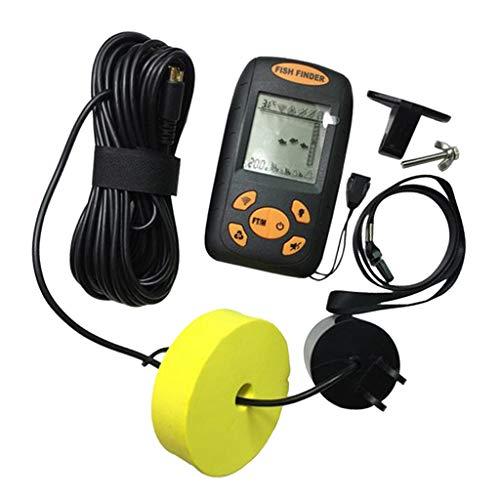 #N/A 100M - Detector de peces portátil con sensor sonar, pantalla LCD, medidor de profundidad para pesca