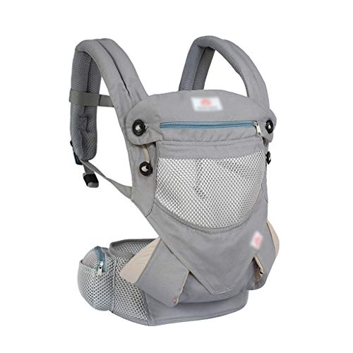 DYW Porte-bébé Ergonomique Sacs à Dos Sling Wrap Cotton Infant Newborn Porter Ceinture for Respirant Face Avant Kangourou (Color : A)