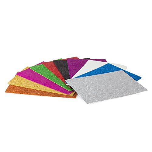 Pryse- Eva Goma con Purpurina, 10 Unidades, Multicolor, 20 x 30 cm (5000100)