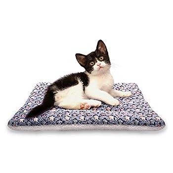 ANBIWANGLUO Couvertures de Chien et de Chat pour l'animal de Sommeil Doux 4 Taille 4 Couleur(Bleu Foncé Plus épais,Small
