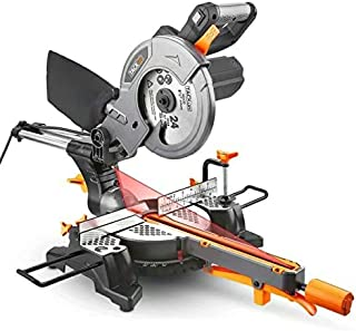 TACKLIFE Sliding Compound Miter Saw 12.5-AMP, 8-1/2 Inch, 4500RPM, Single-Bevel(0°-45°) with Laser Guide, Extended Table Lever, Dust Bag, Lightweight Aluminum Guard - PMS01X