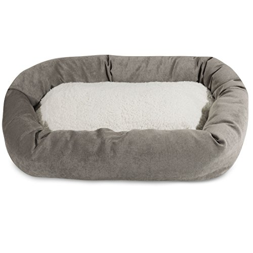 Majestic Apple Villa Collection Sherpa Bagel Hundebett, 24-Inch, Vintage
