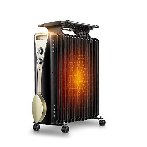 ZDHG Radiador,Radiador De Aceite,13 Aleta - Tapón De Calentador Eléctrico Portátil, 3 Ajustes De Calor, La Temperatura Ajustable/Termostato Y Cierre De Seguridad