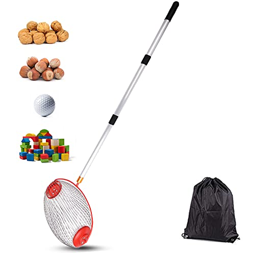VEDOSRE Large Nut Gatherer Rolling Nut Harvester Ball Picker Adjustable Outdoor Manual Tools Picker Collector Walnuts Pecans Golf Nerf Darts and Ball 1   to 3   in Size (14.6in)