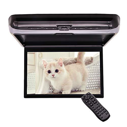 New 13,3 Zoll Flip Down-Auto DVD-Player-TFT-LCD-Monitor Auto-Dach-Mounted Video Player Overhead Auto Decke Display mit Zwei Video-Eingang Auto IPS Styling HDMI-Anschluss IR-Kopfhörer enthalten