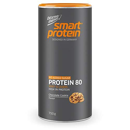 Dextro Energy Whey Protein Chocolate Cookie | 750 g Proteinpulver | 80% Whey und Casein Protein | Ideal für Protein Pancake