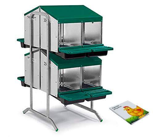 FINCA CASAREJO Ponederos para gallinas. Ponedero Huevos Eco 8 Huecos. Ponedero en batería + Agenda Perpetua