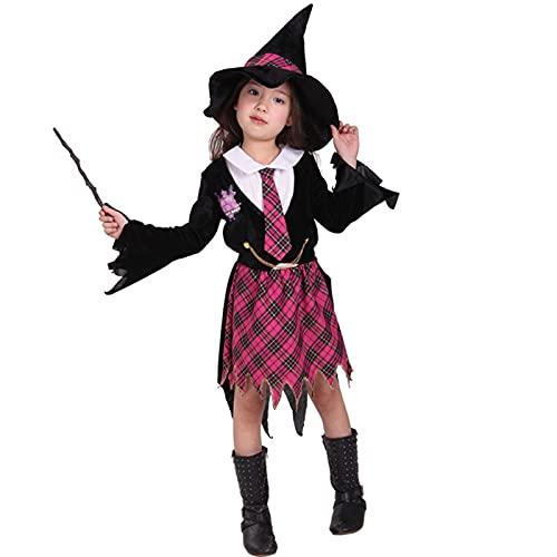 YUHUA-SHOP1983 Traje de Halloween de Las nias, nios Mangas largas para nios Classic Harry Potter Pelaje de rol Dress Up (Color : Black, Size : Large)