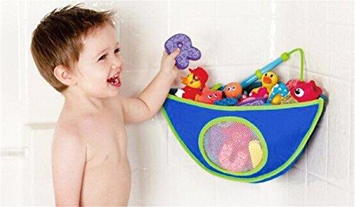 BrilliantDay Rangement de jouets de bain pour bébé avec 4 crochets adhésifs ultra-résistants - Grand rangement de jouets pour garçons et filles et panier de douche#2