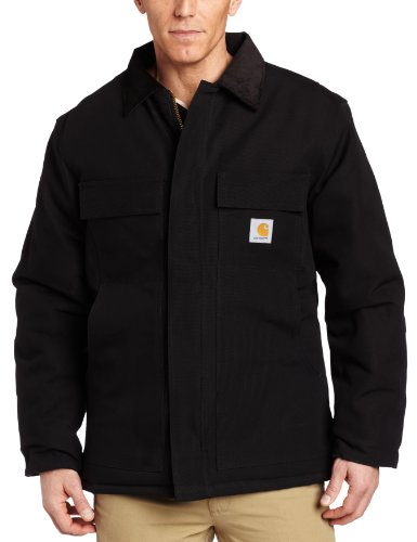 Carhartt Men's Big & Tall Arctic Quilt Lined Duck Traditional Coat C003,Black,XXX-Large Tall