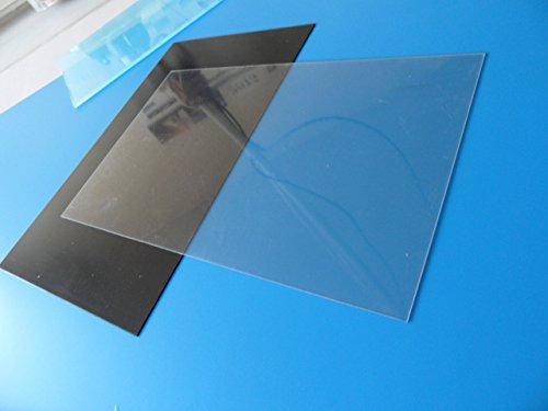 PVC Platte transparent 200x450x1mm (10 Stück)