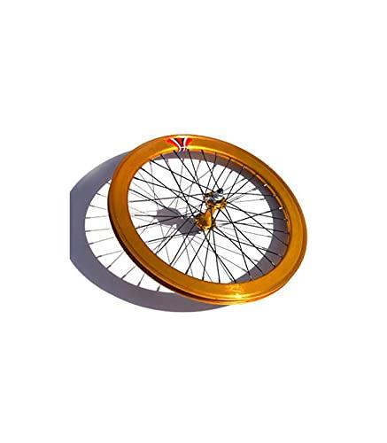 Riscko Wonduu 003s Rueda Delantera Bicicleta Personalizada Fixie Talla S Oro