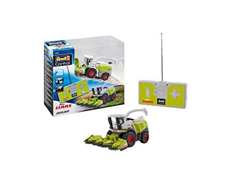 Revell Control 23489 Mini RC Traktor Claas Jaguar 960 Feldhäcksler, 27 MHz Fernsteuerung mit Ladefunktion ferngesteuertes Auto, grün