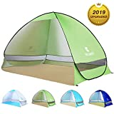 BATTOP Pop Up Beach Tent Sun Shelter Cabana Anti UV Beach Shelter for 2-3 Person Outdoor Sets up in...