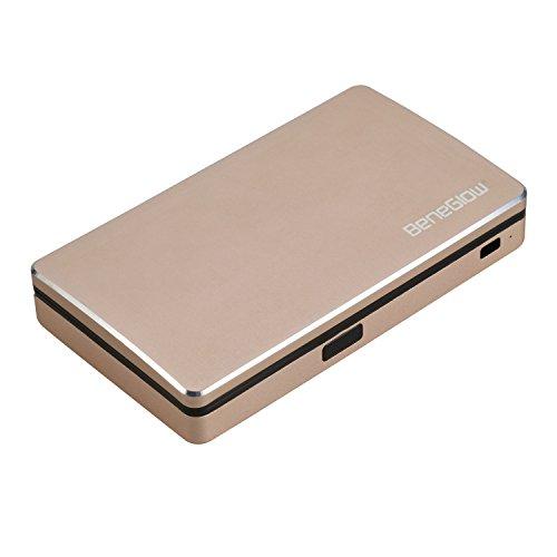 Portafogli per carte, Greshare Bluetooth Antifurto antifurto intelligente Bluetooth RFID sicuro Portafoglio completo in alluminio con fino a 10 carte bancarie (Gold)