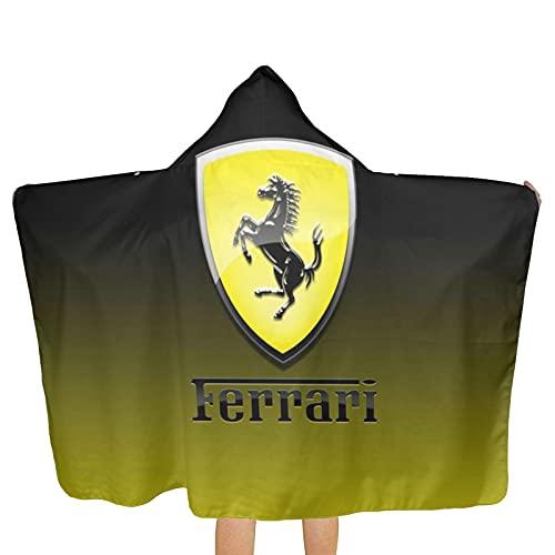 Large Puzzle Ferrari - Toallero para mujer, algodón de bambú, con cierre y bolsillo, bata de baño y toalla de ducha