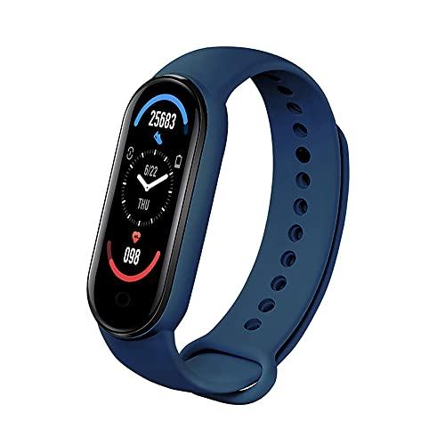 HUAGE Rastreador de Actividad M6 Pulsera de Reloj Inteligente con Detector de Ritmo Cardíaco Y Presión Arterial Resistente Al Agua IP67 Adecuado para Hombres Y Mujeres