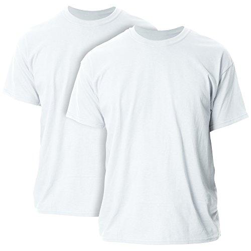 Gildan Men's G2000 Ultra Cotton Adult T-Shirt, 2-Pack, White, Medium