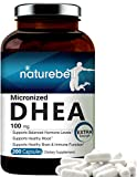 Maximum Strength DHEA 100mg, 200 Capsules, Supports Energy Level, Metabolism, Stamina for Men and Women, No GMOs, Made in USA
