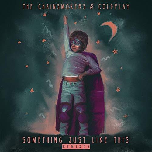 Vscdye Algo así como Esto The Chainsmokers & Coldplay Cantante Portada del álbum Posters e Impresiones Arte de la Pared Pintura en Lienzo Decoración de la Pared del hogar-60x60cm Sin Marco