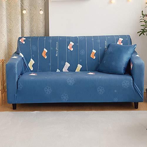 Ginsenget Funda sofá,Fundas sofá Cama de 1 2 3 4 plazas Protector Muebles,Arena elástica de Navidad