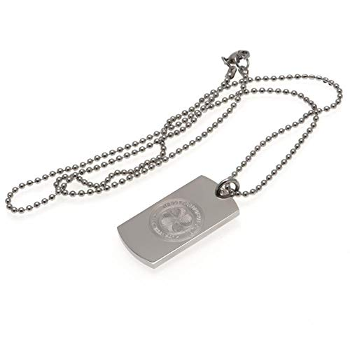 Celtic FC Engraved Dog Tag And Chain (One Size) (Silver)