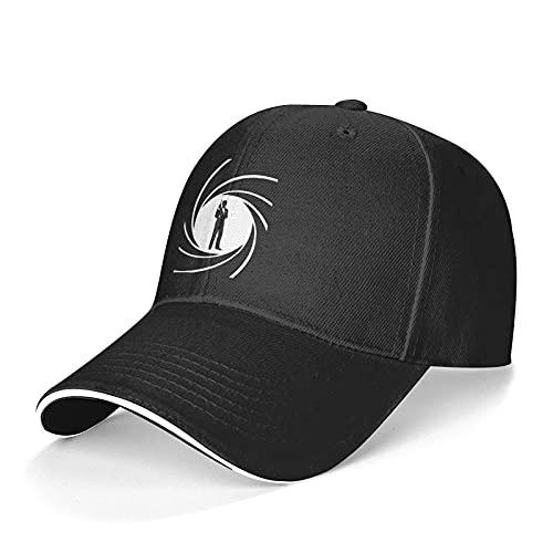 DENGDAI Unisex Cappellini Baseball James Bond 007 Cappello da Camionista Regolabile Lavabile Cappello da papà
