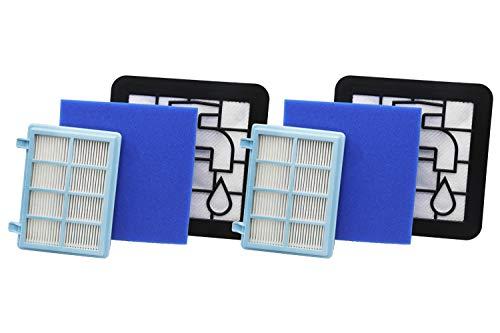 Green Label 2er-Pack Filterset für Philips PowerPro Compact and Marathon Compact Staubsauger (Vergleichbar mit FC8010 01)