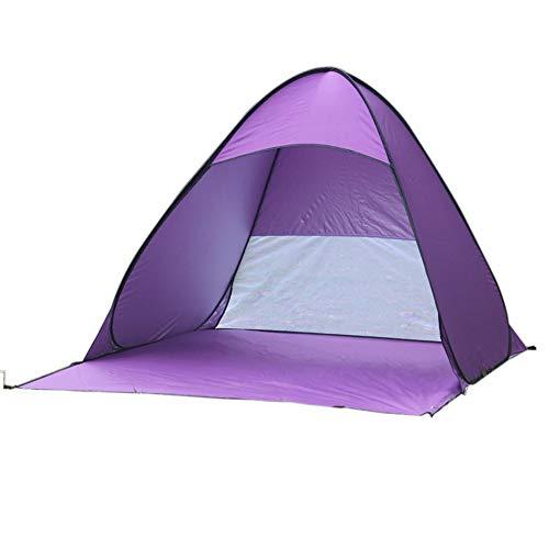 Yidata - Tienda de campaña portátil para acampar en la playa, plegable, resistente al agua, resistente a los rayos UV, color morado