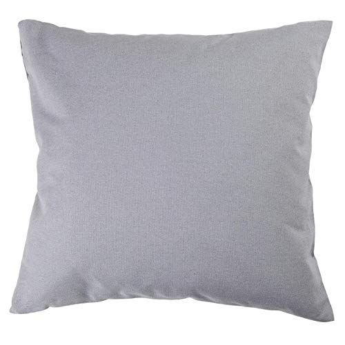 Hans-Textil-Shop Kissenbezug 30x30 cm Grau Baumwolle