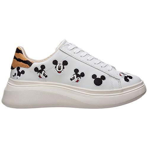 MOA Master of Arts Damen Disney Mickey Mouse Sneaker Bianco 38 EU