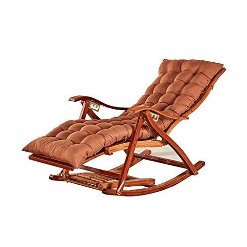 Bambus Klappstuhl, Schaukelstuhl ältere Stuhl Mittagspause Stuhl Wohnzimmer Recliner Balkon Lounge Stuhl Klappstuhl (Farbe : G)