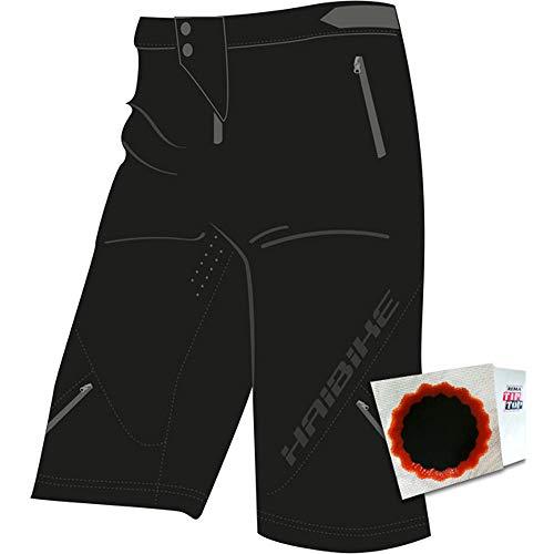 Haibike+TipTop Shorts Ryan Unisex Gr. XS + SCHLAUCHFLICKEN schwarz