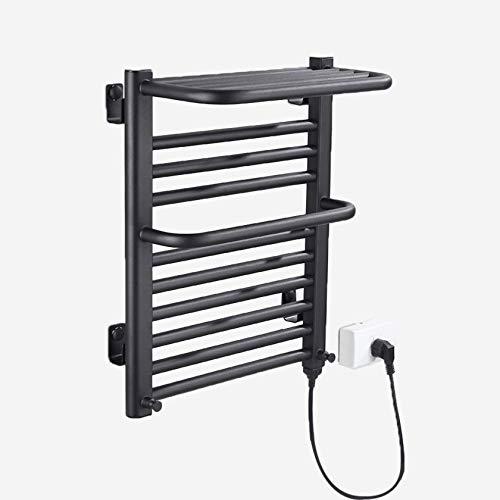 Escalera plana para radiador con calentador de toallas blanco / negro, 9 varillas calefactoras, utilizada en baños de moda, 450 * 550 * 205 mm, potencia 168 W, voltaje 220 V, IPX4 a prueba de agua
