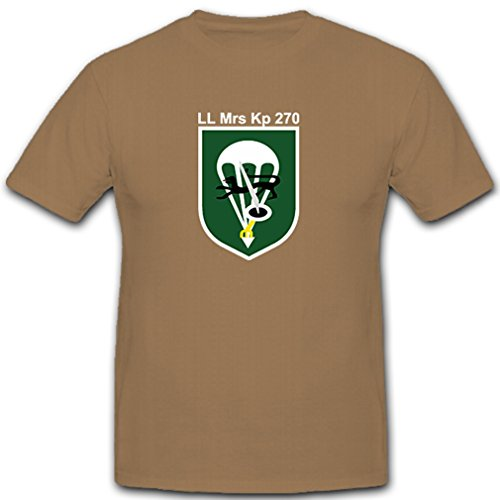 Luftlande Mörser 270 LL Mrs Kp 270 Bundeswehr Fallschirmjäger - T Shirt #9804, Farbe:Sand, Größe:Herren XXL