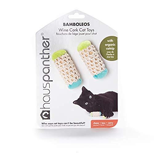 Hauspanther Collection Bamboleos Wine Cork Cat Toys with Organic Catnip (set of 2) by Primetime Petz, Ocean