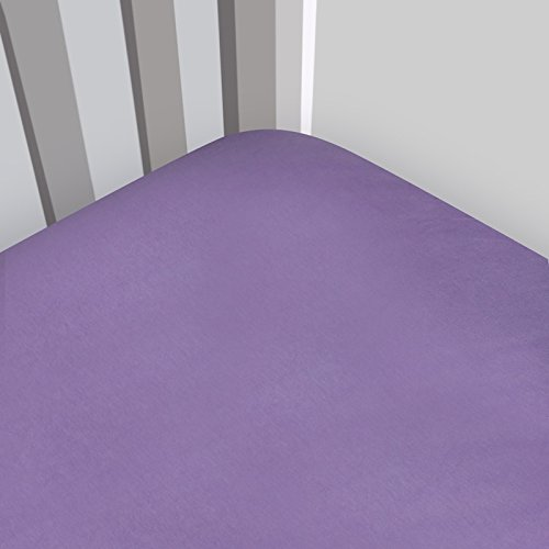 Magnolia Organics Fitted Interlock Crib Sheet - Standard, Orchid Purple
